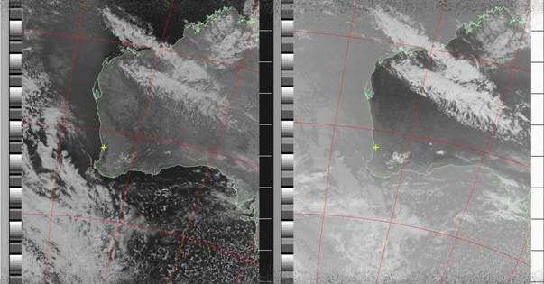 Noaa 19 Vis and IR images